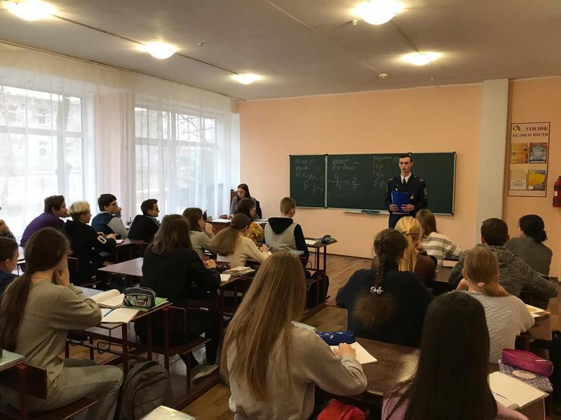 Агитационная работа курсантов ФИМТ в школах