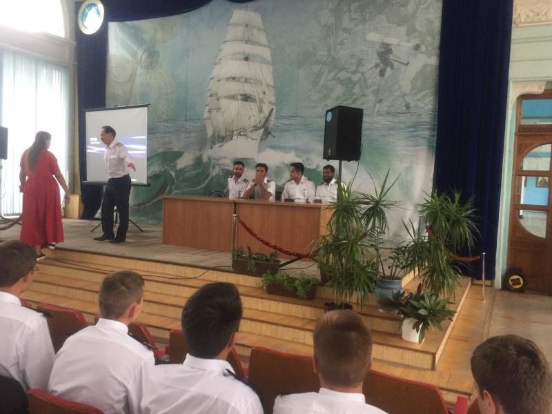 Встреча с индийскими моряками